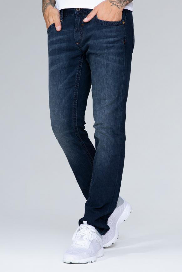 Denim NI:CO mit tonigen Nähten Regular Fit blue black vintage