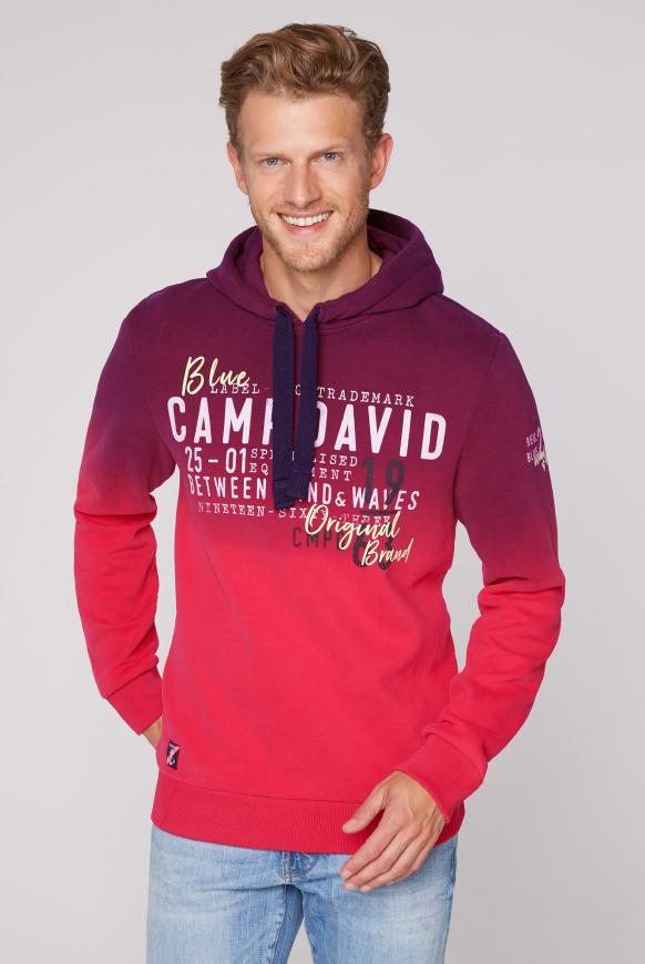 Dip Dye Hoodie mit Label Prints speed red