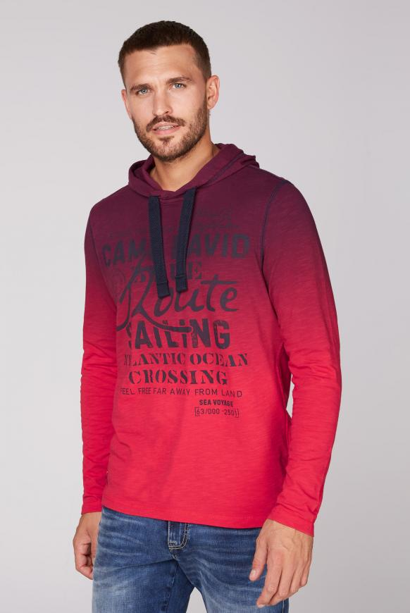 Dip Dye Kapuzenshirt mit Label Print speed red