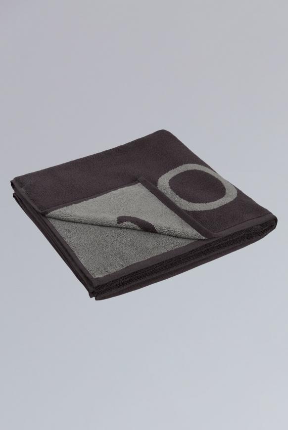 Duschtuch aus Frottier mit Logo anthracite / grey