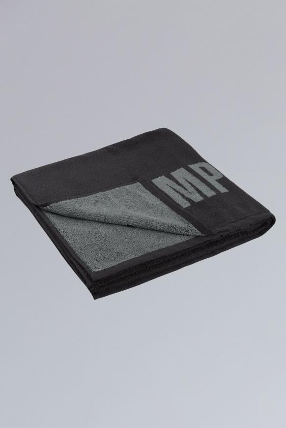 Duschtuch mit Logo anthracite / grey