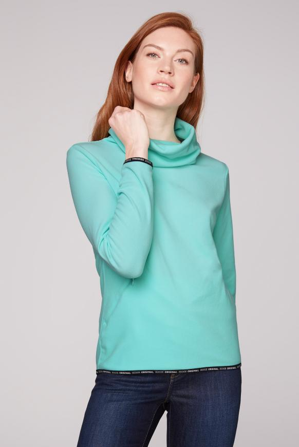 Fleece-Pullover mit Back Artwork
