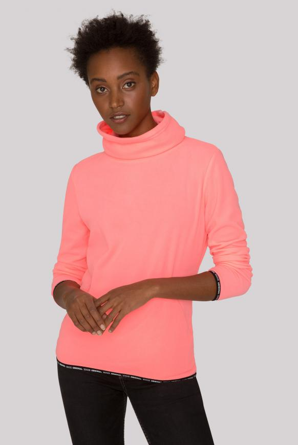 Fleece-Pullover mit Back Artwork neon pink