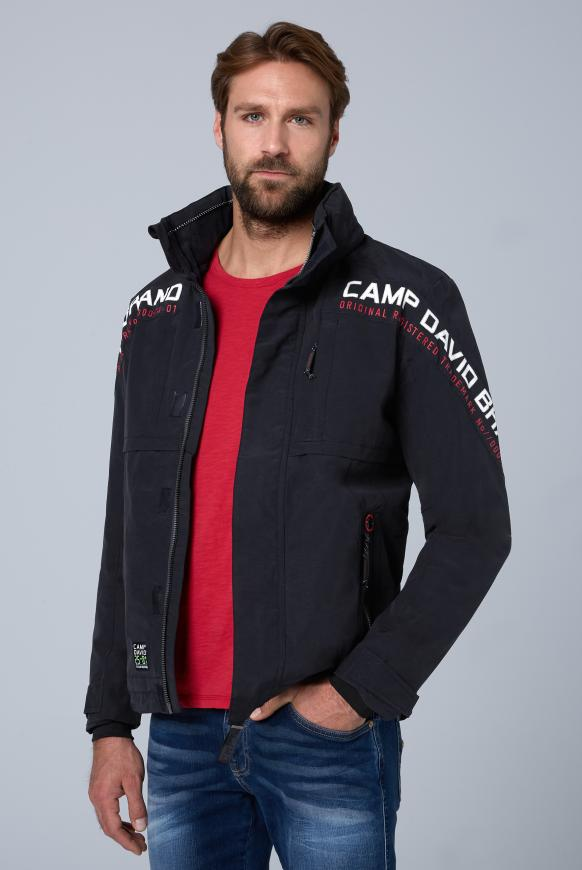 Funktionsjacke mit Logo-Applikationen blue navy