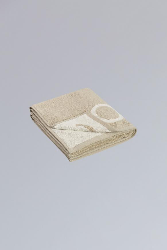Handtuch aus Frottier mit Logo beige / light beige