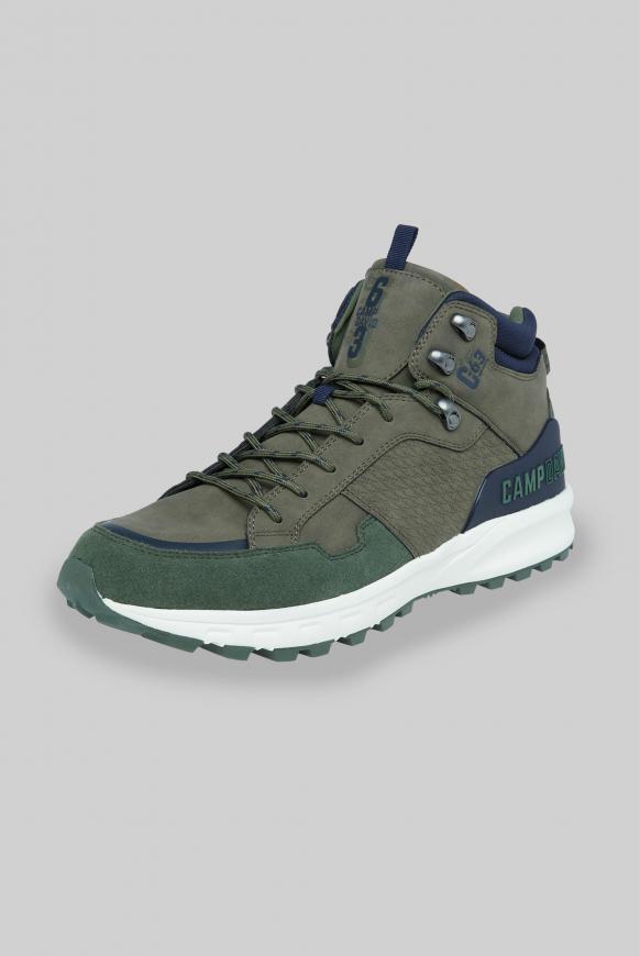 Hiking Sneaker mit Logo-Details pale olive