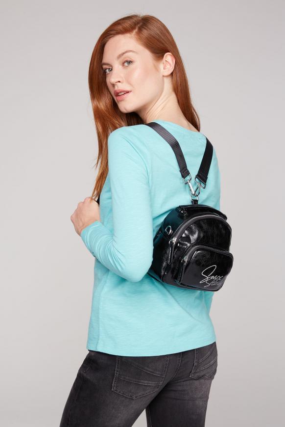 Hybrid Bag aus Kunstleder black