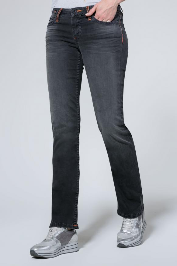 Jeans CO:LE mit Used-Optik und Boot Cut anthra aged