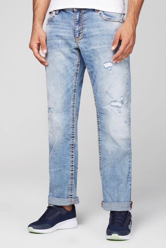 Jeans CO:NO mit Destroy-Effekten authentic blue