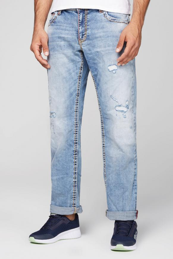 Jeans CO:NO mit Destroy-Effekten authentic blue