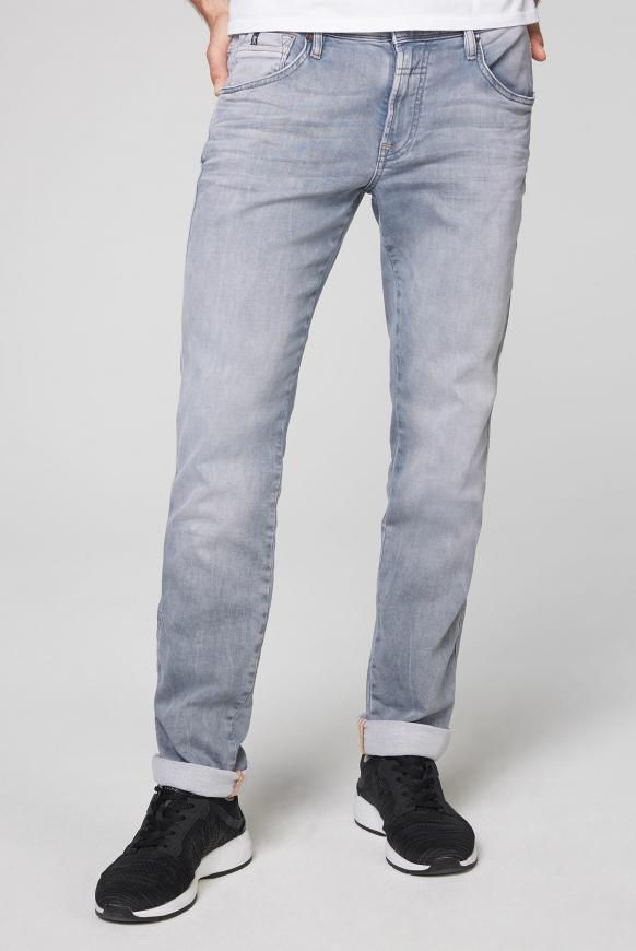 Jeans DA:VD aus Jogg Denim im Used Look light grey jogg