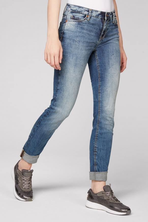 Hosen - Jeans HE DI mit Bleaching Effekten Farbe authentic blue  - Onlineshop CAMP DAVID, SOCCX