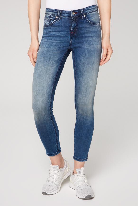 Jeans MI:RA mit Bleaching-Effekten ocean blue used