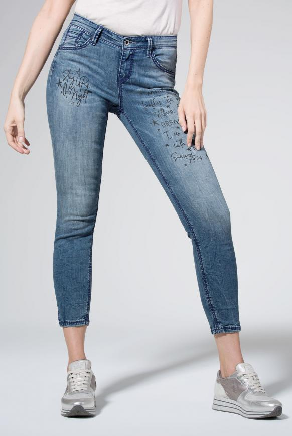 Jeans MI:RA mit coolen Wordings salt water washed