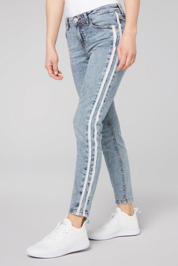 Jeans MI:RA mit Seitenstreifen stone used