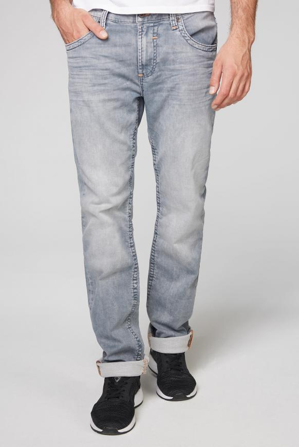 Jeans NI:CO aus Sweatmaterial im Denim Look light grey jogg