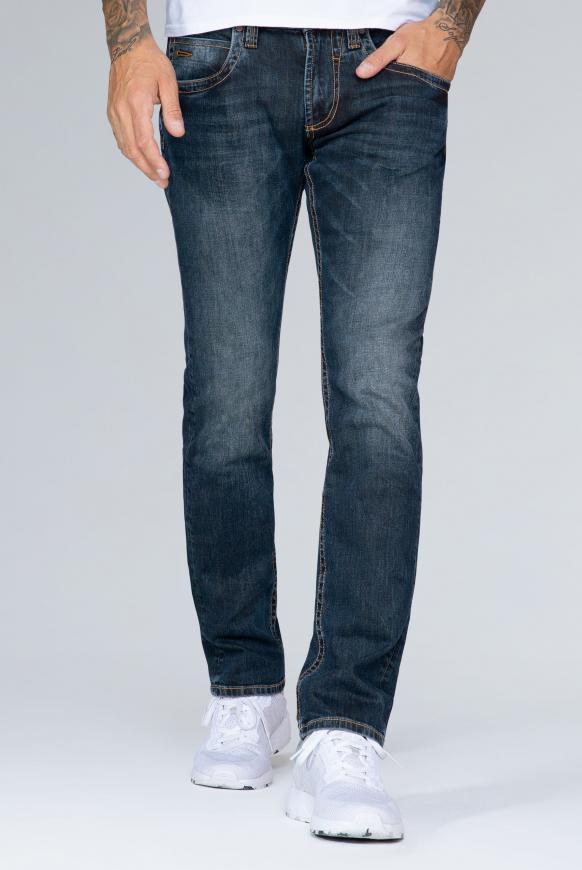 Jeans NI:CO im Vintage Style, Regular Fit dark vintage tinted