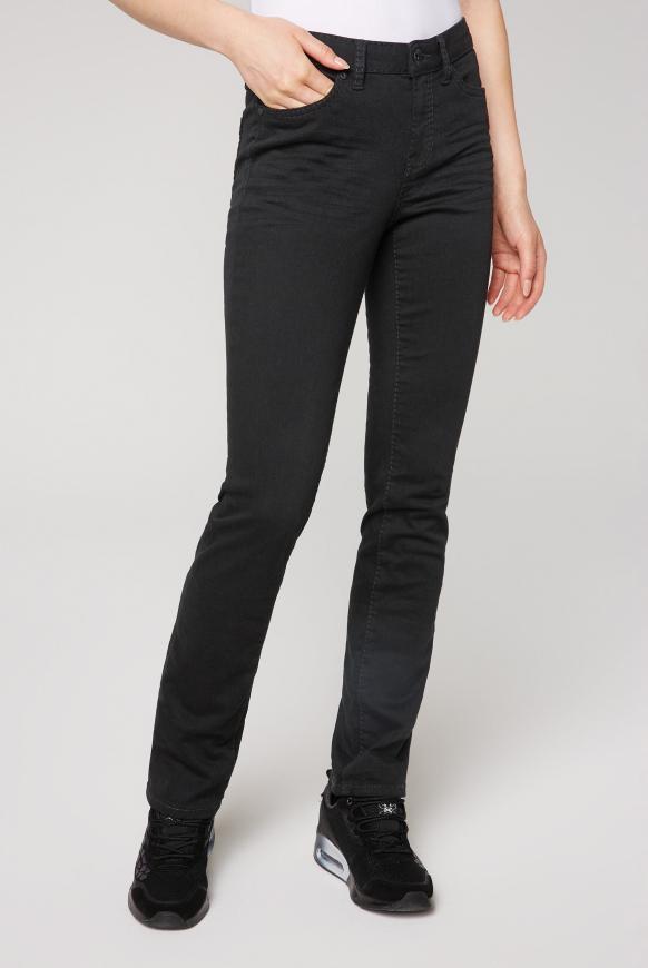 Jeans RO:MY mit geradem Bein black