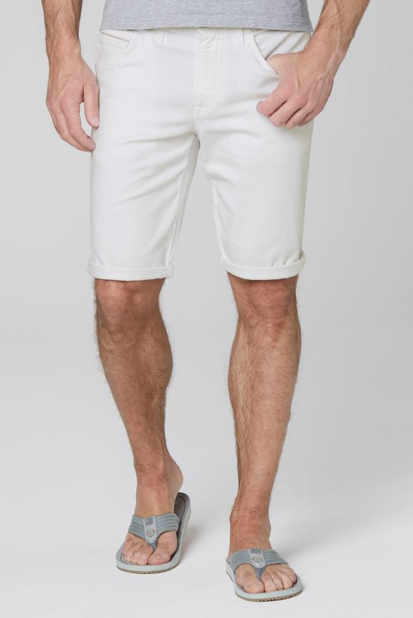 Jeansshorts DA:VD mit Turn-Up-Saum opticwhite
