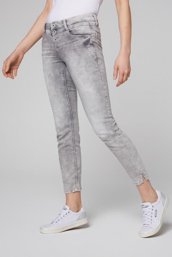 Jogg-Jeans MI:RA mit Knopfleiste silver grey used
