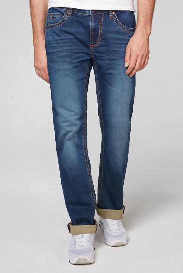 Jogg Jeans NI:CO mit Bleaching-Effekten ocean blue jogg