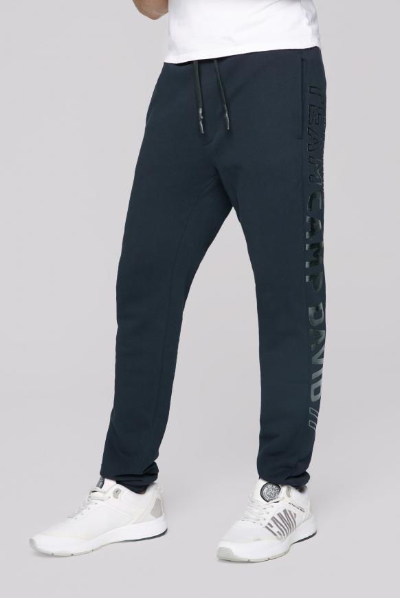 Jogginghose mit Metallic Rubber Print blue navy