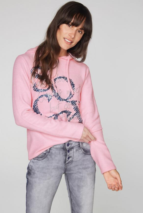 Kapuzenpullover mit Logo Glitter Print ocean rose
