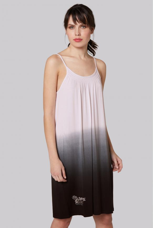 Kleid mit Farbeffekt und Spagetthiträgern anthra