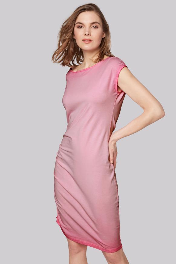 Kleid mit Seitenraffung und Back Artwork lush rose