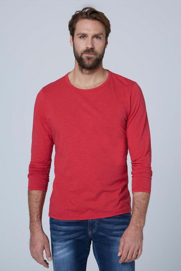 Langarmshirt aus Flammgarn cardinal