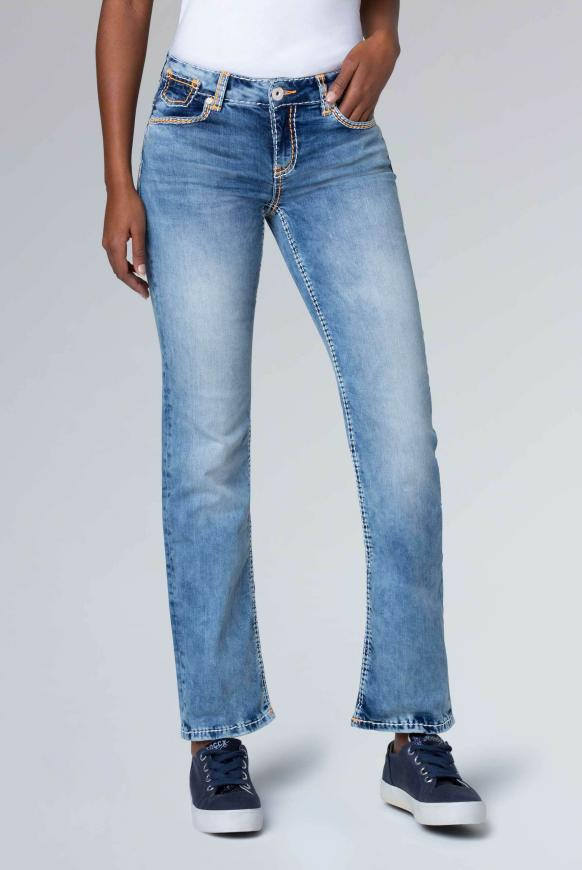Light Random Jeans CO:LE mit Neon-Details, Comfort Fit light random used