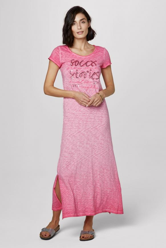 Maxikleid Oil Dyed mit Pailletten-Artwork oriental pink