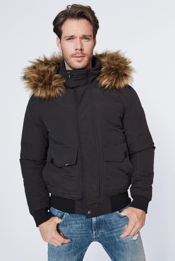 MEM-PHIS Winterjacke mit Kapuze black