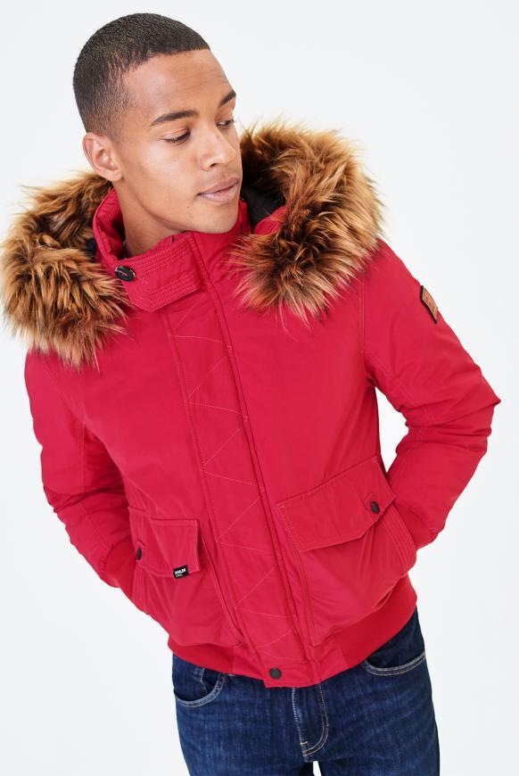 MEM-PHIS Winterjacke mit Kapuze flag red