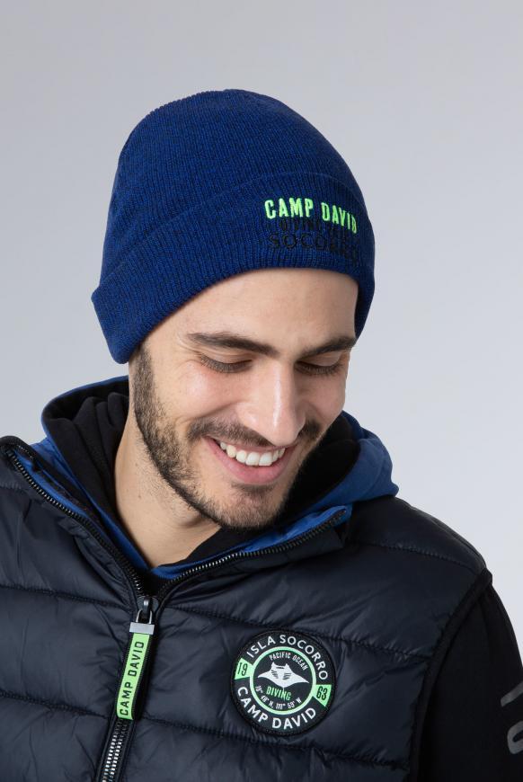 Mütze mit Logostick diving blue