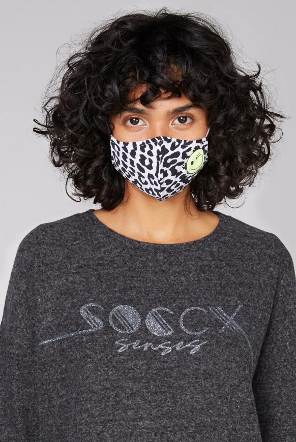 Mund-Nasen-Bedeckung mit Artwork  opticwhite