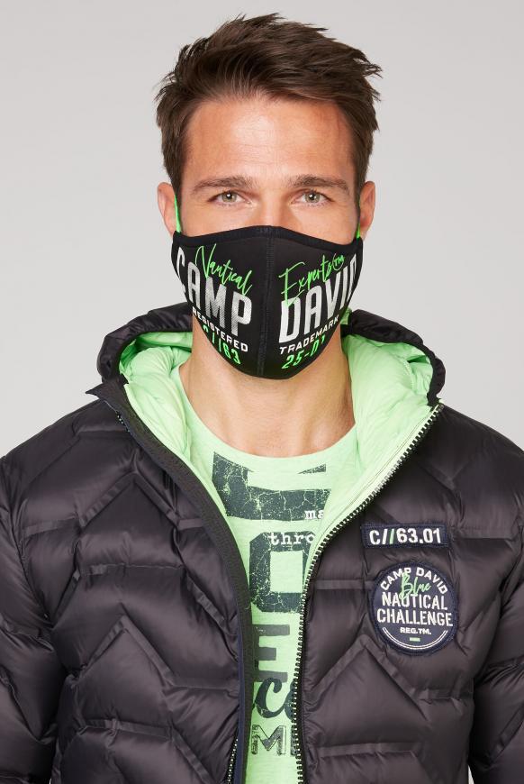 Mund-Nasen-Maske aus Neopren mit Artwork black