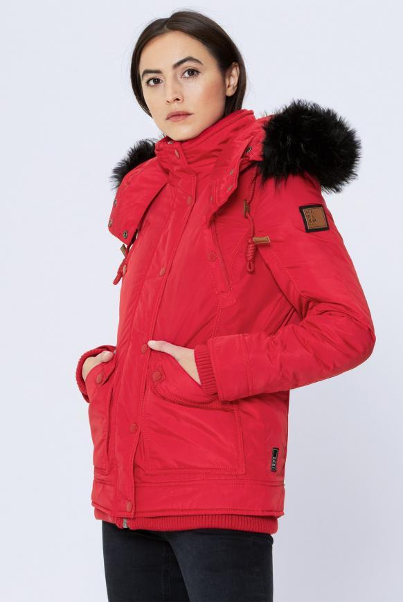 NAO-MI Jacke mit Kapuze red
