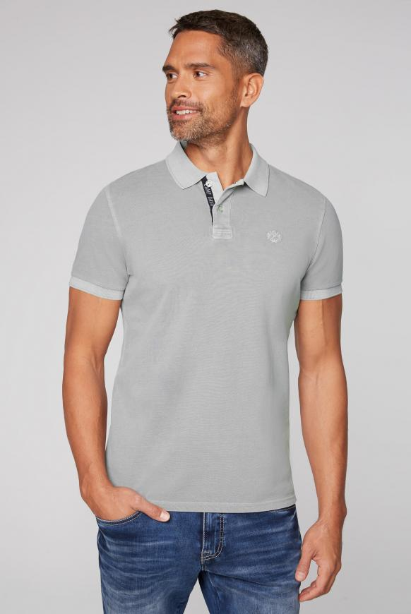 Pikee-Polo mit Used-Waschung polo grey