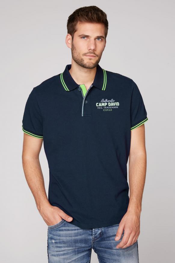 Poloshirt aus Pikee mit Logo-Stickereien blue navy