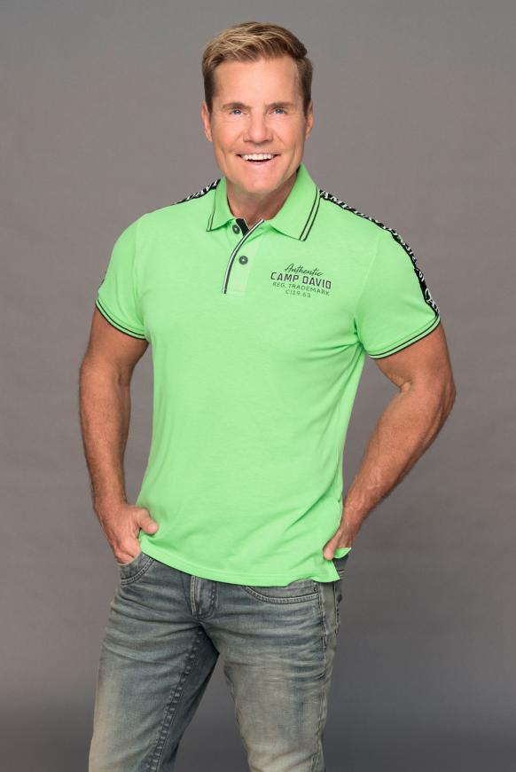 Poloshirt aus Pikee mit Logo-Stickereien neon green