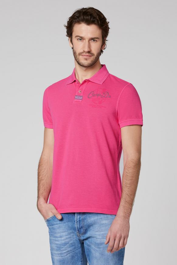 Poloshirt aus Piquee mit Rücken-Print punch