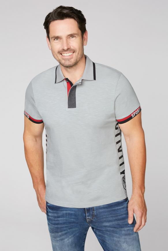 Poloshirt mit Folien-Prints thunder grey