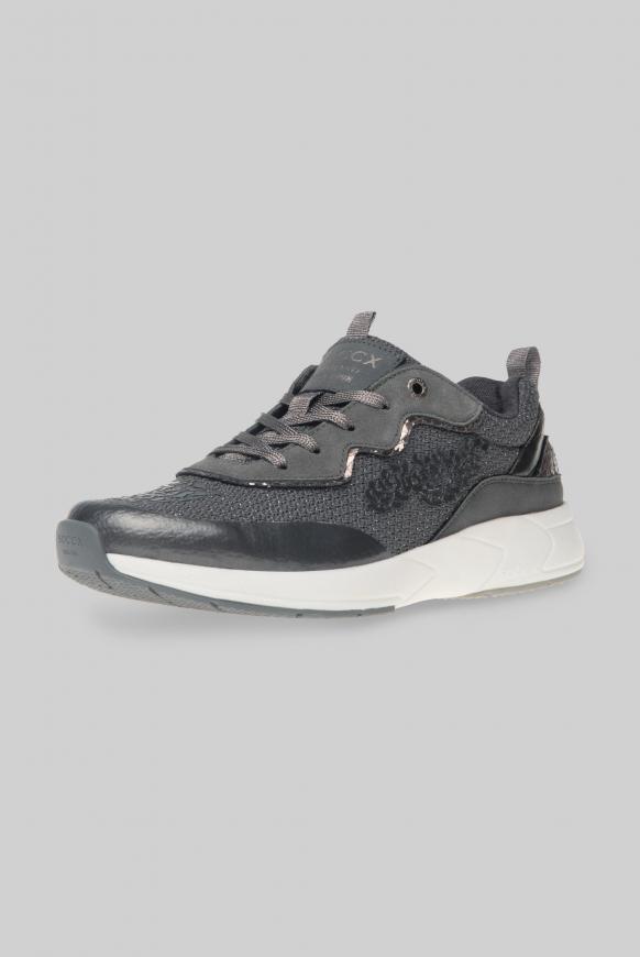 Premium Sneaker im Metallic Look dark silver