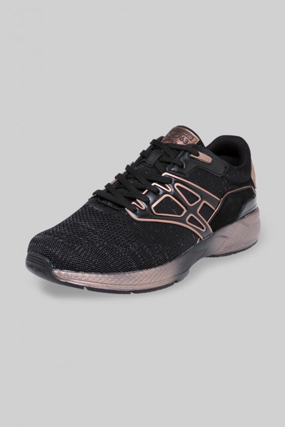 Premium Sneaker mit Strick-Design black