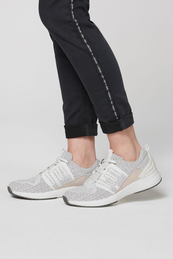 Premium Sneaker mit Strick-Struktur white