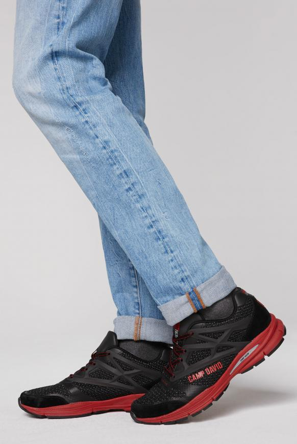 Premium Sneaker mit Strick-Struktur black