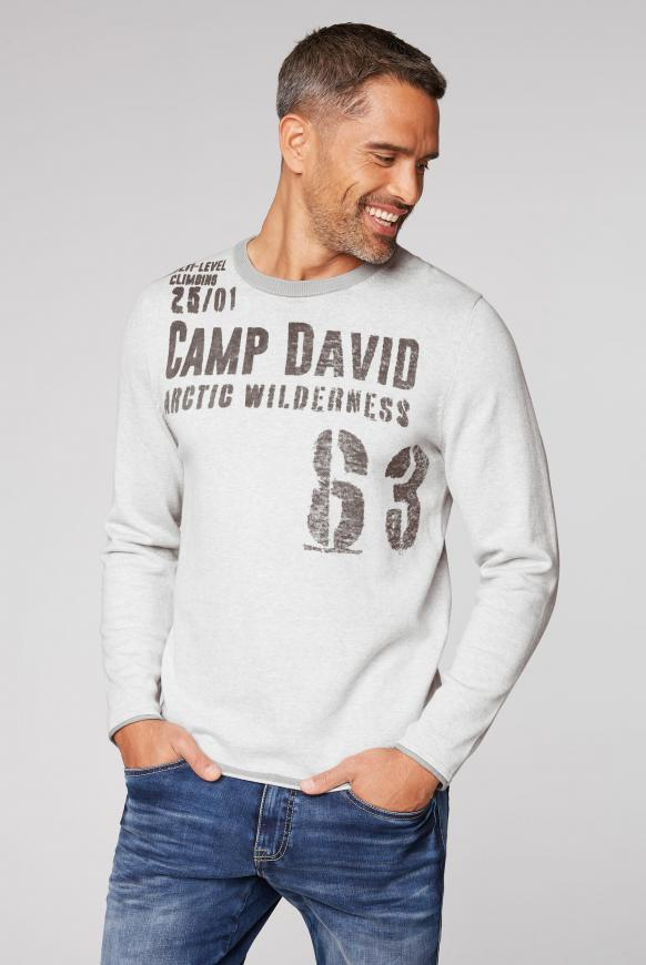 Pullover mit Inside Print ivory