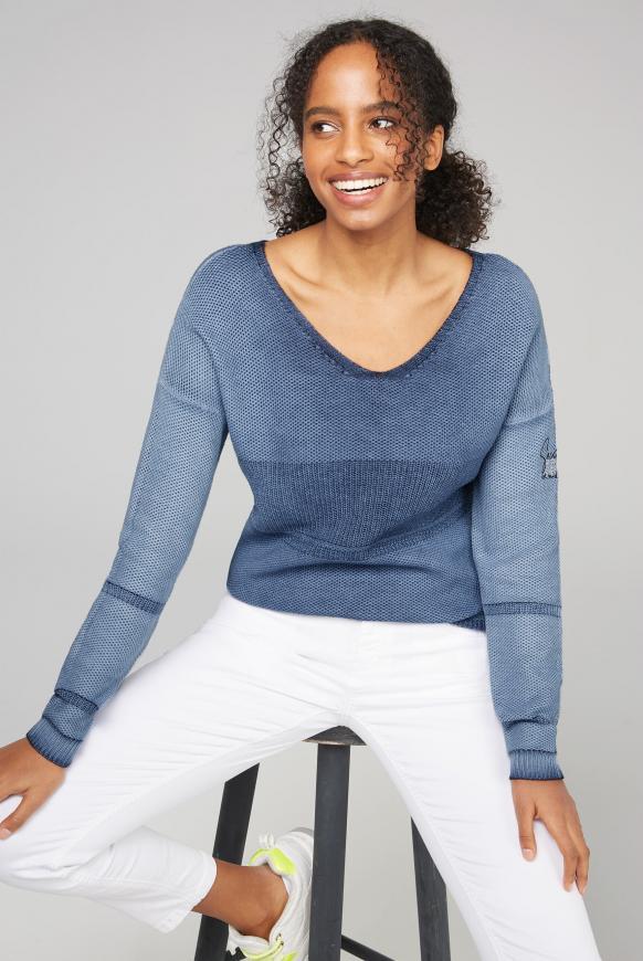 Pullover mit Schnürung am Rücken moroccan blue