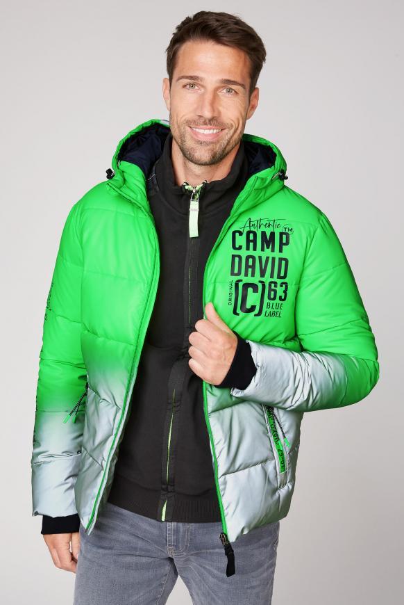 Reflektor-Jacke mit Farbverlauf green